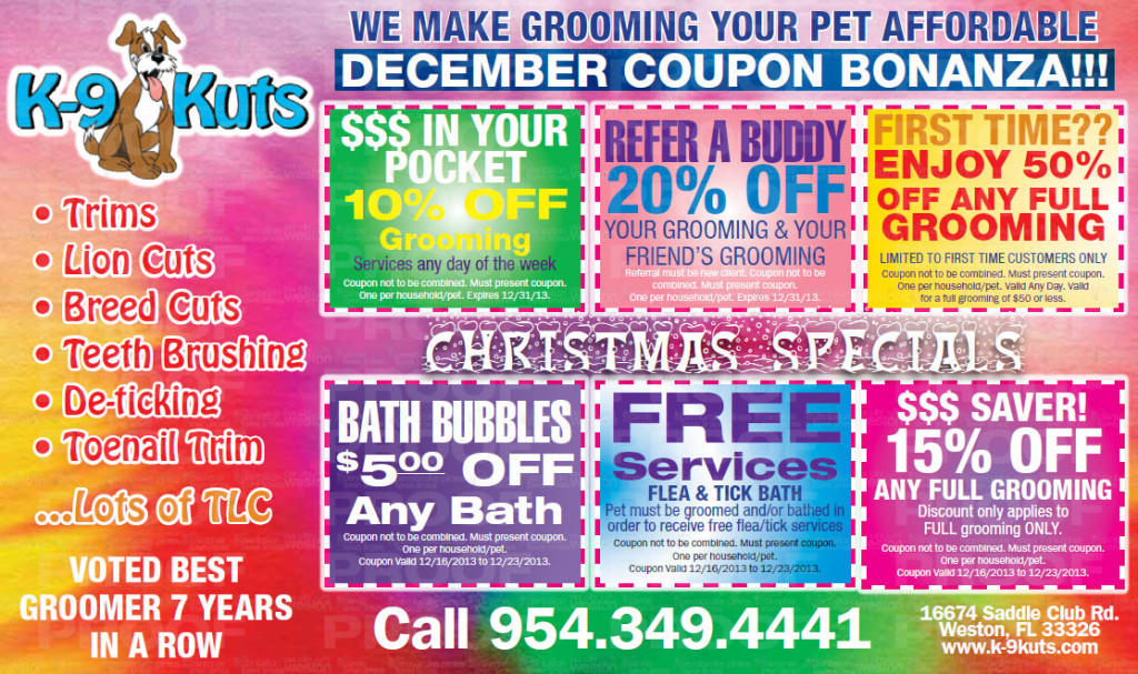 happy holidays from the affordable groomer in weston