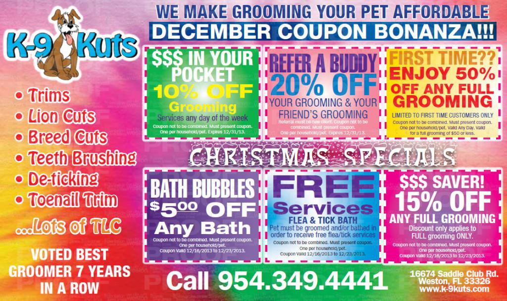 K-9 kuts dog groomer weston florida december coupons
