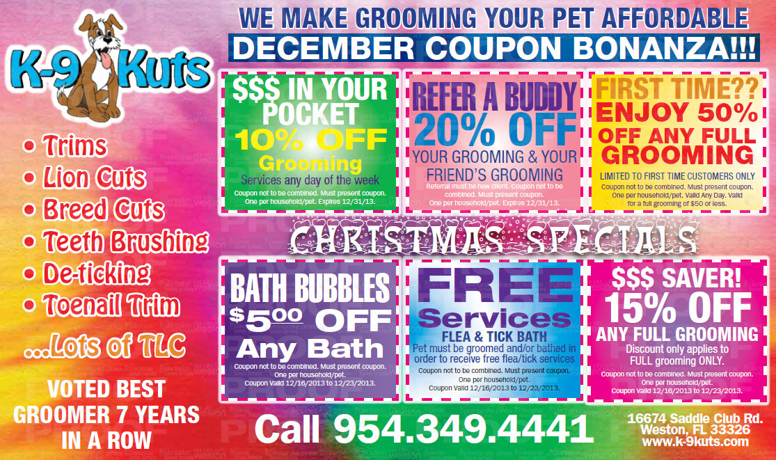 Happy holiday savings from the affordable groomer in Weston