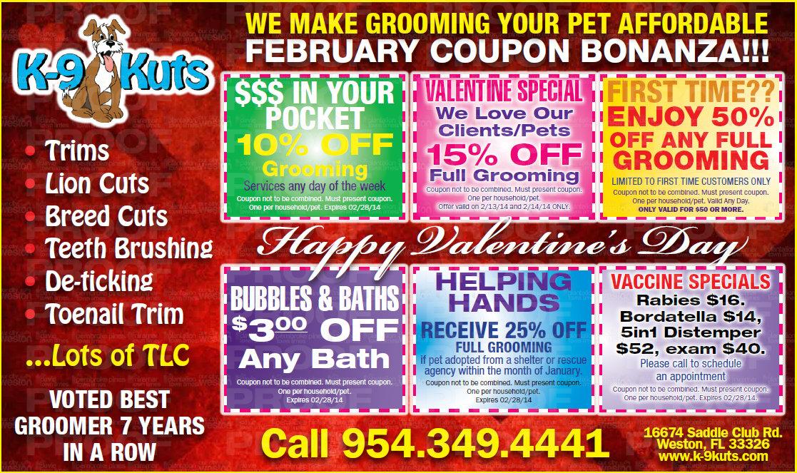 K-9 kuts dog groomer weston florida february 2014 coupons