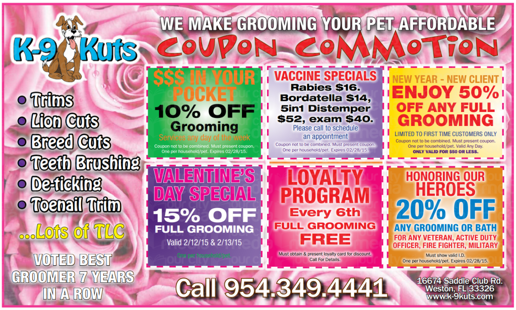 k-9 kuts affordable weston dog groomer february 2015 coupons
