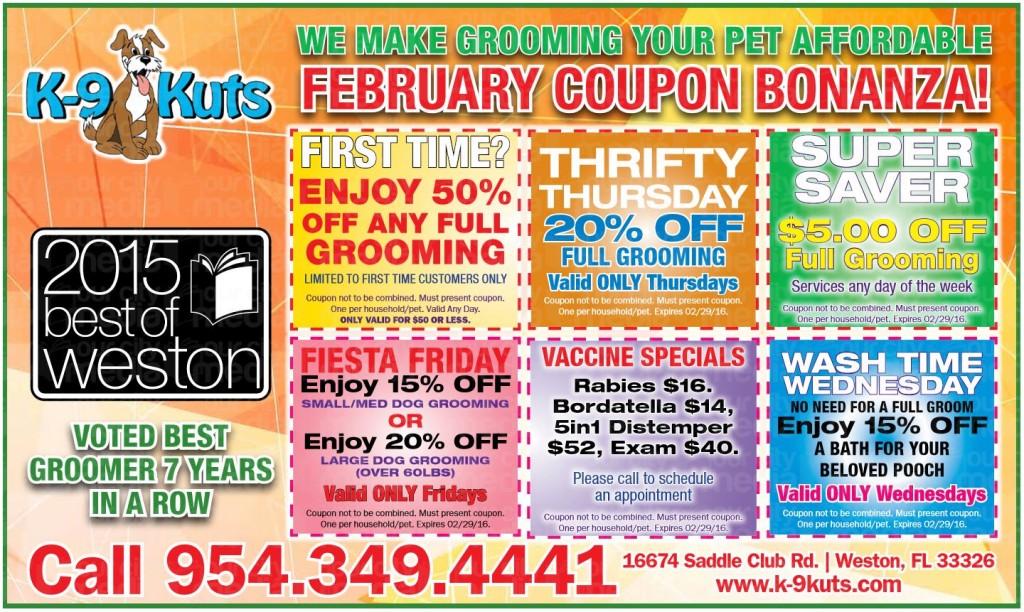 k-9 kuts affordable weston dog groomer february 2016 coupons
