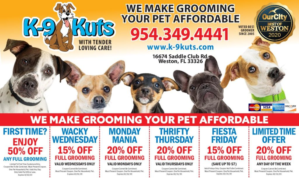 weston dog groomer october 2020 coupons